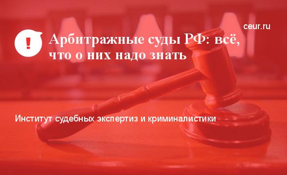 Арбитражные суды РФ: всё, что о них надо знать